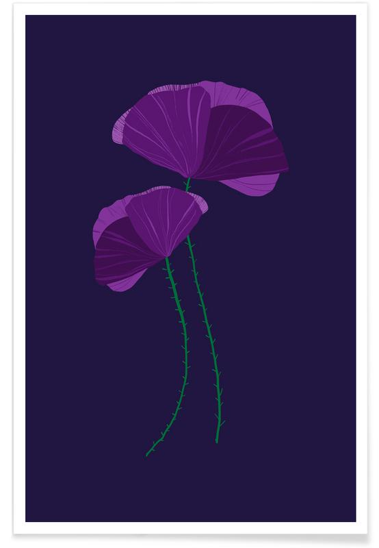 , Purple Wildflower Poster