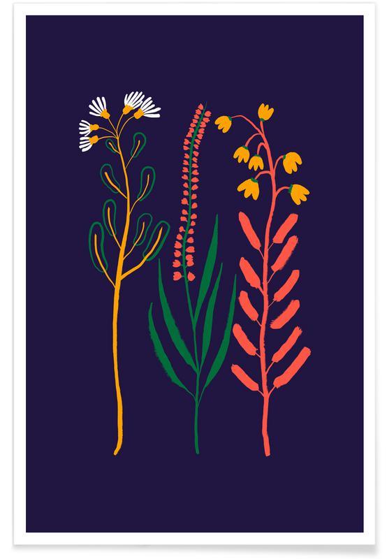 , Wildflower Trio -Poster