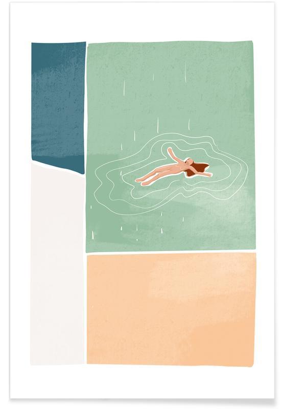 , Bathing Plakat