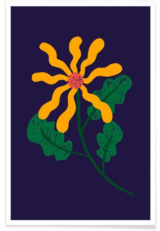 , Waved Petals Poster