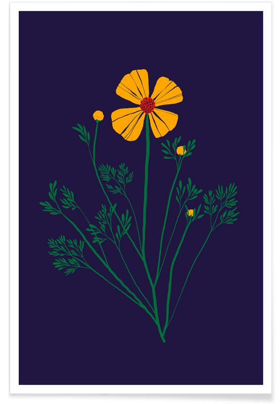 , Wildflowers with Foliage affiche