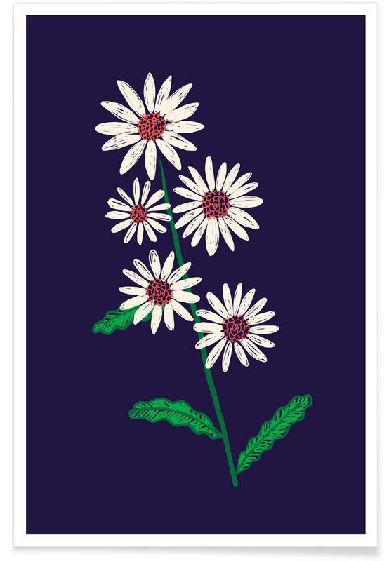 , White Wildflowers -Poster