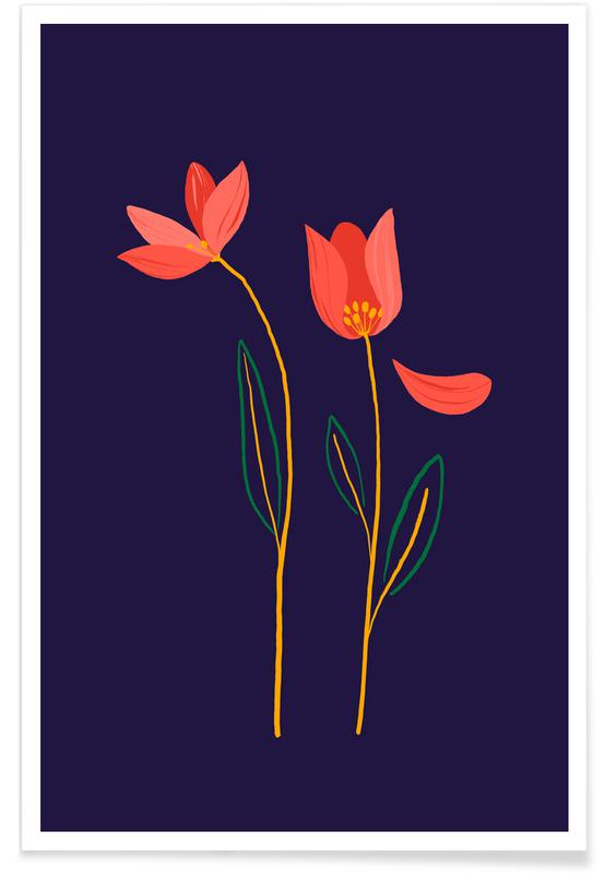 , Autumn Wildflowers poster