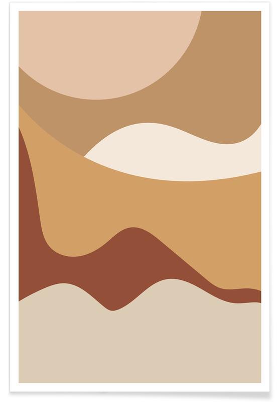 , Golden Waves Poster