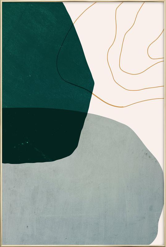 Interplay -Poster im Alurahmen