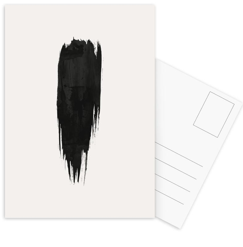 Brushstroke III -Postkartenset