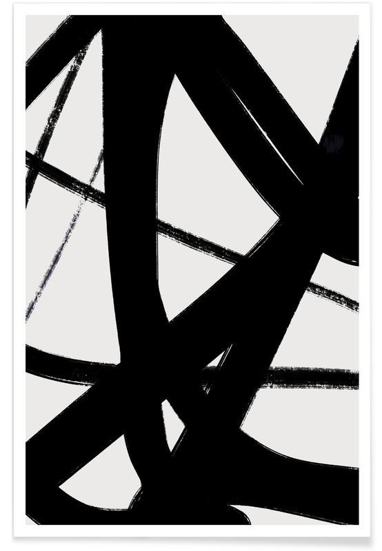 Sort & hvidt, Layers Plakat
