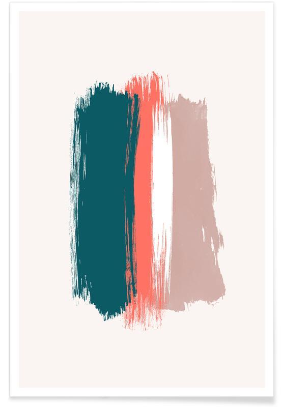 , Brushstroke II Plakat