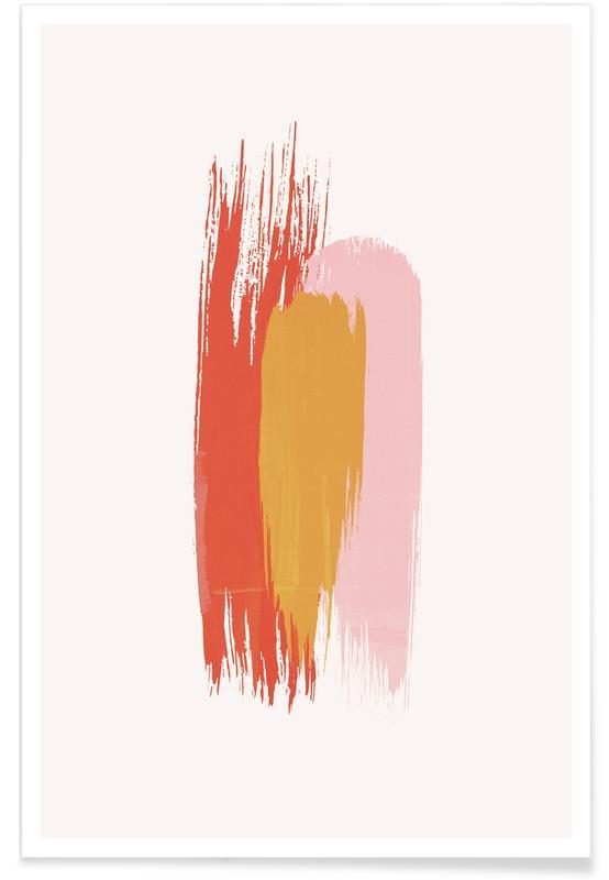 Brushstrokes IV poster