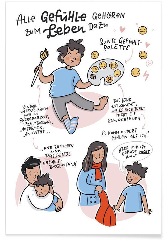 Art pour enfants, Gefühle affiche