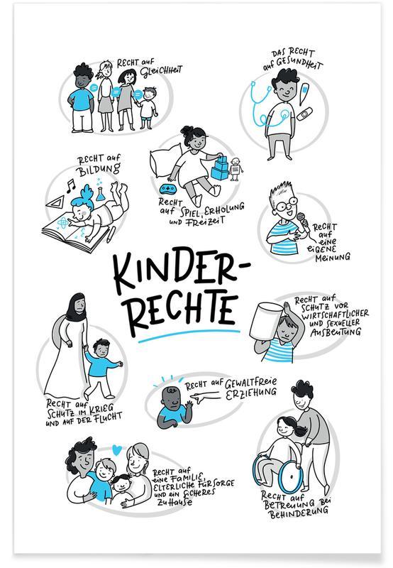 Kinderzimmer & Kunst für Kinder, Kinderrechte -Poster
