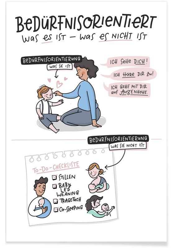 Kunst voor kinderen, Bedürfnisorientiert poster
