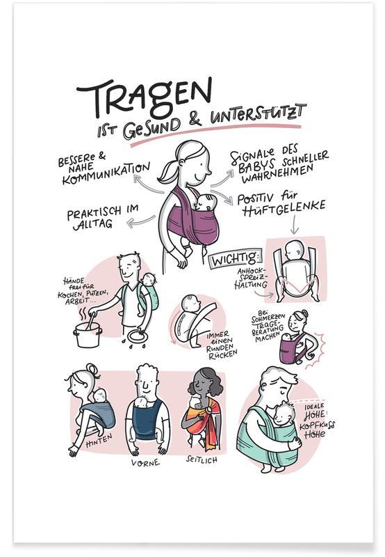 Pasgeborenen, Motivatie, Tragen poster
