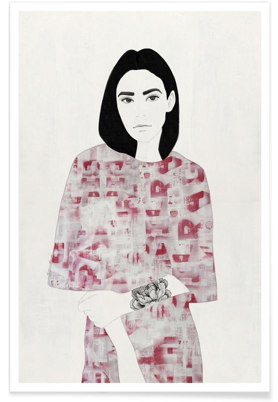 The Girl with Black Hair affiche