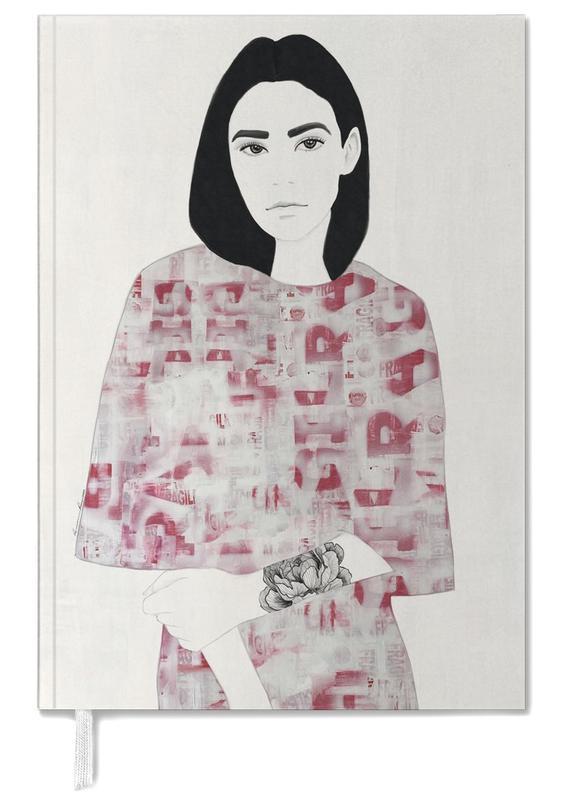 Porträts, Modeillustration, The Girl with Black Hair -Terminplaner