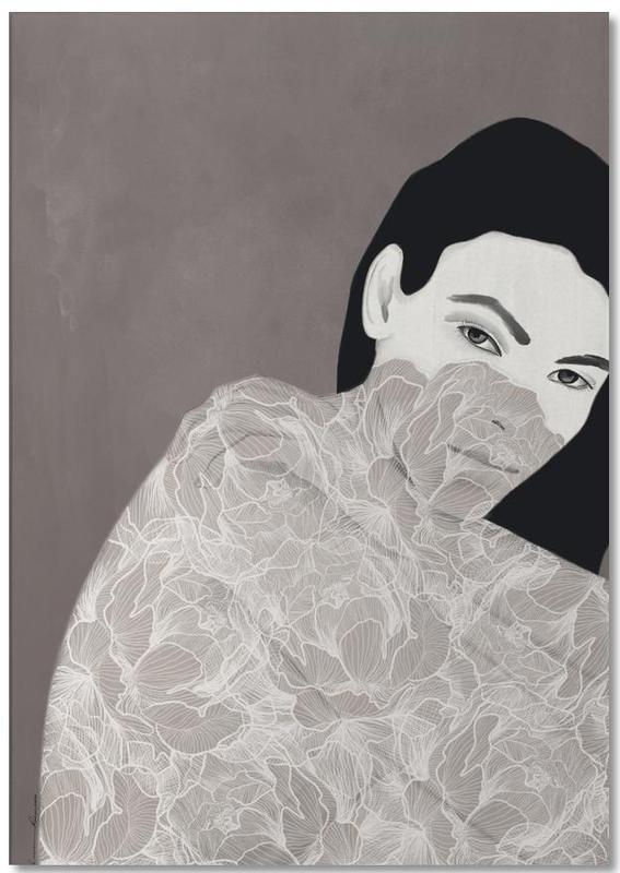 Porträts, Modeillustration, Vittoria -Notizblock
