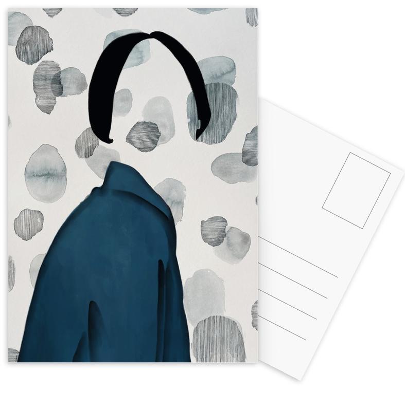 Porträts, Modeillustration, Void -Postkartenset