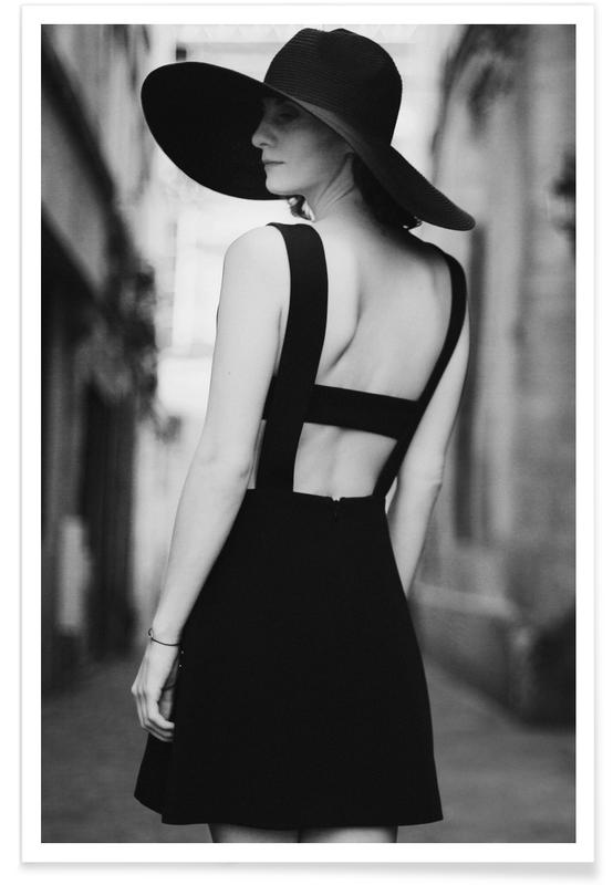 Photos de mode, Noir & blanc, Graceful affiche