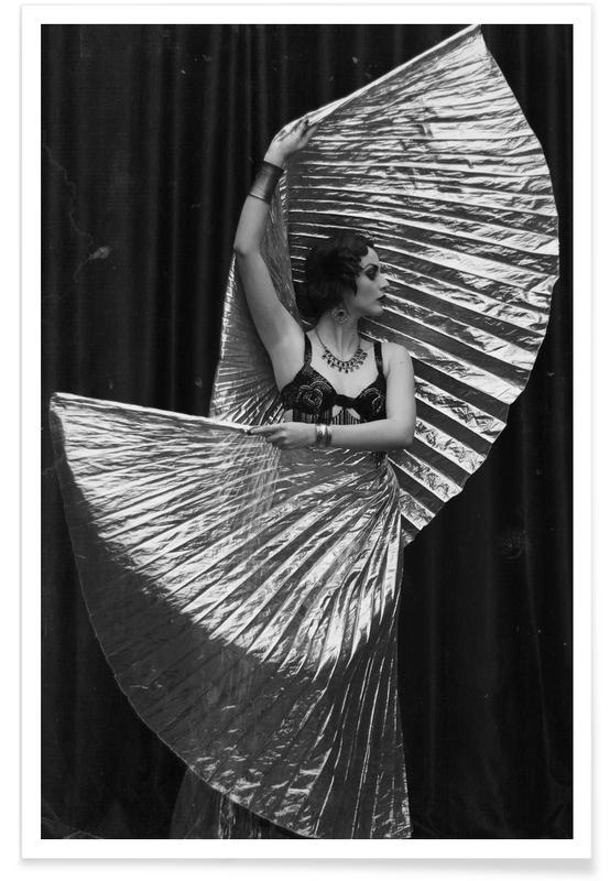 Modefotografie, Schwarz & Weiß, Gold Wrapped -Poster
