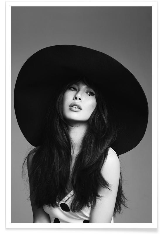 Fashion Photography, Black & White, Bella Poster
