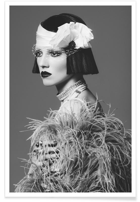 Noir & blanc, Feathers I affiche