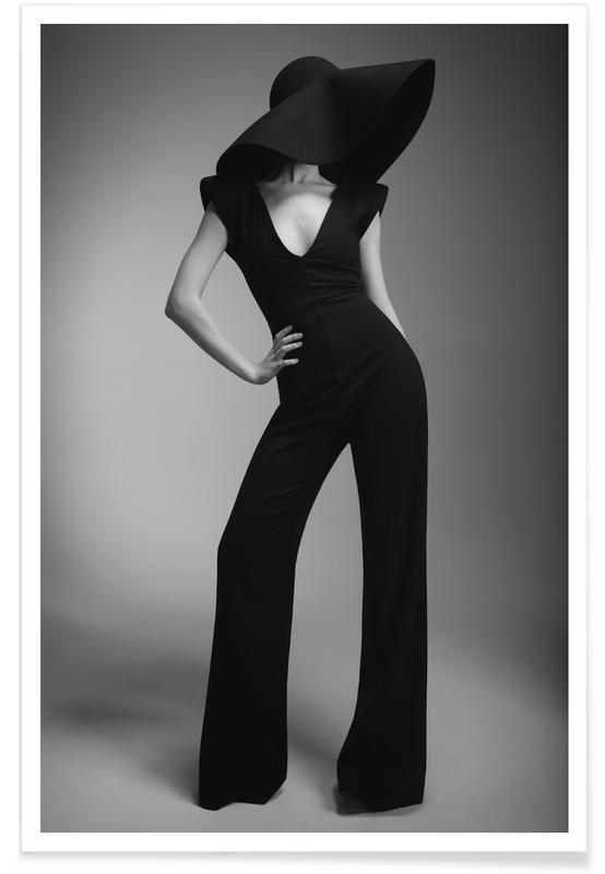 Photos de mode, Noir & blanc, Silhouette affiche