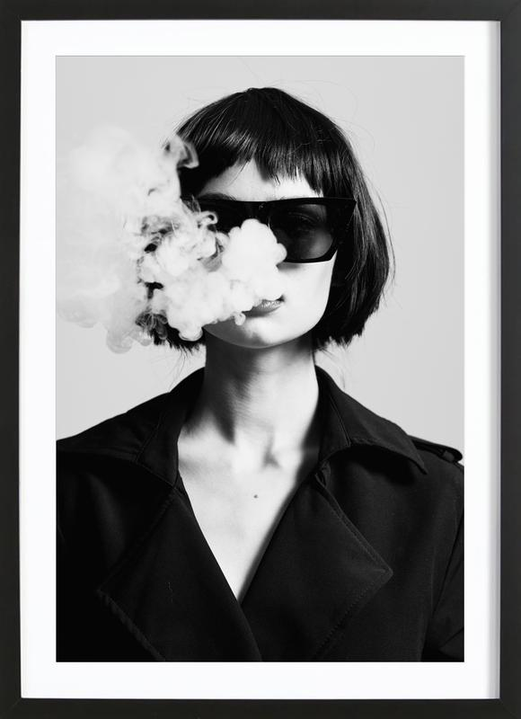 Smoke -Bild mit Holzrahmen
