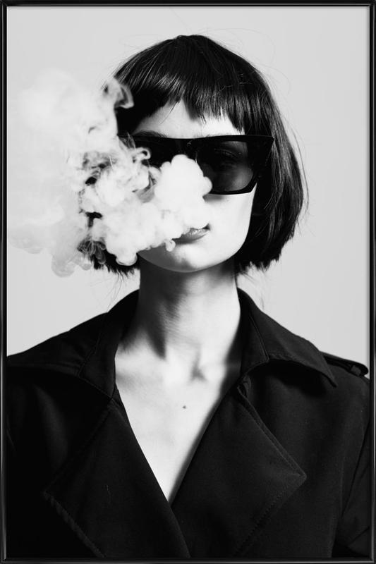 Smoke -Bild mit Kunststoffrahmen