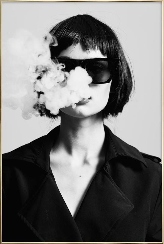 Smoke -Poster im Alurahmen