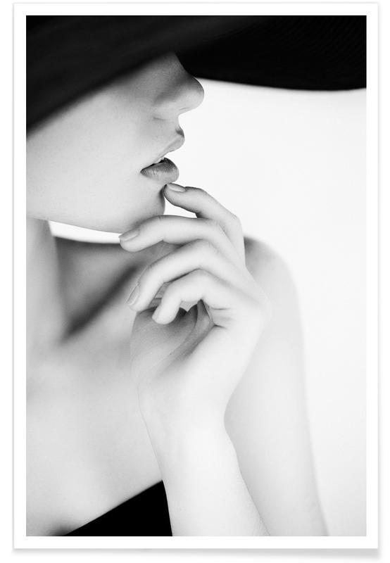 Modefotografie, Schwarz & Weiß, Pose -Poster