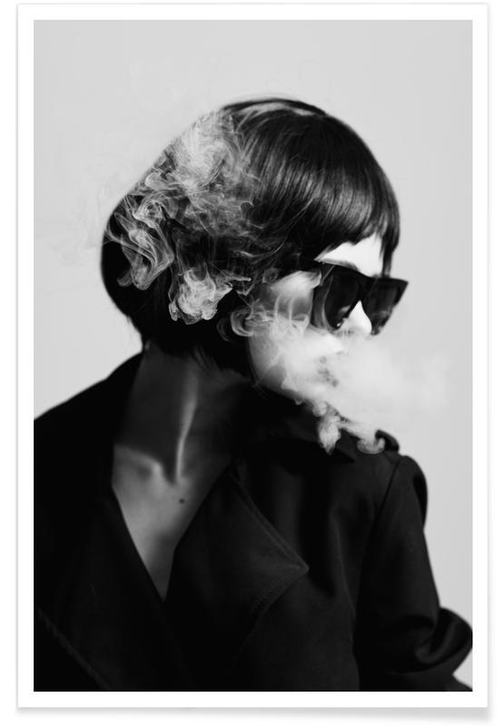 Photos de mode, Noir & blanc, Smoke II affiche