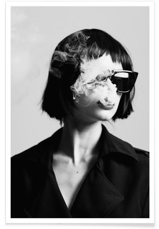 Photos de mode, Noir & blanc, Smoke III affiche