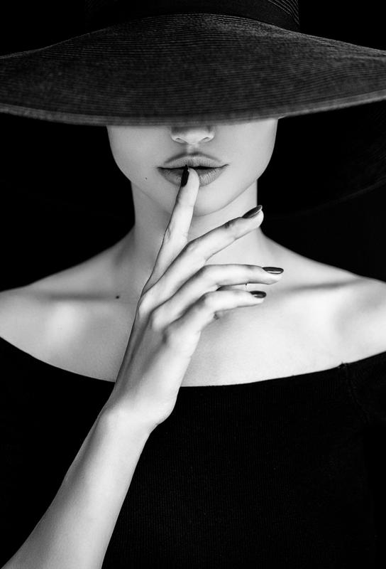 Shh -Acrylglasbild