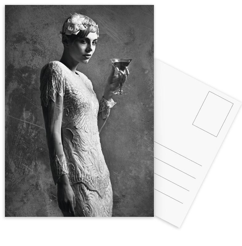 Noir & blanc, Cocktail Attire cartes postales