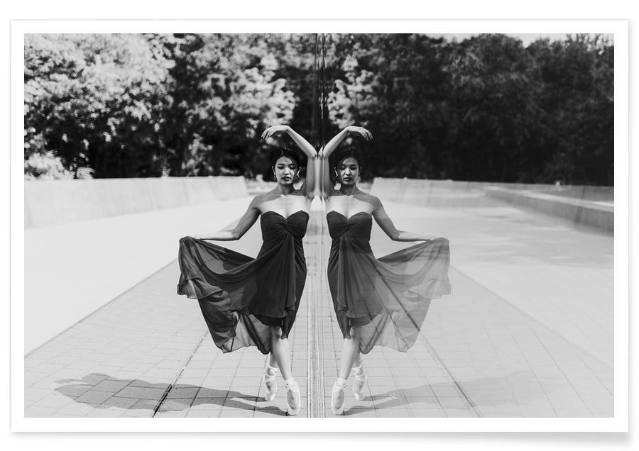Photos de mode, Noir & blanc, Perfect Symmetry affiche