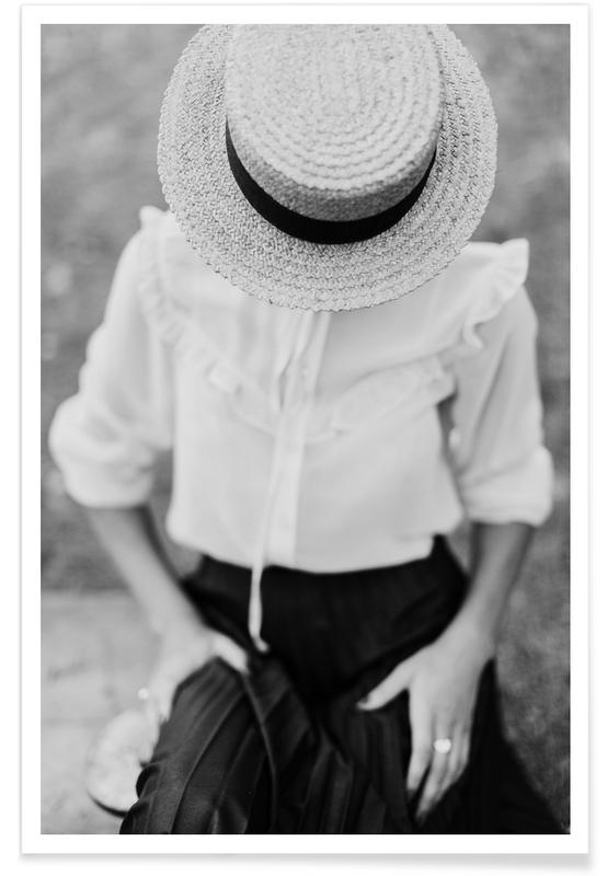 Modefotografie, Schwarz & Weiß, Frills -Poster