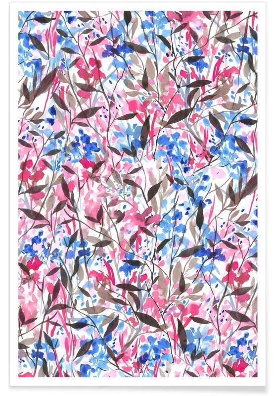 , Wandering Wildflowers Pink poster