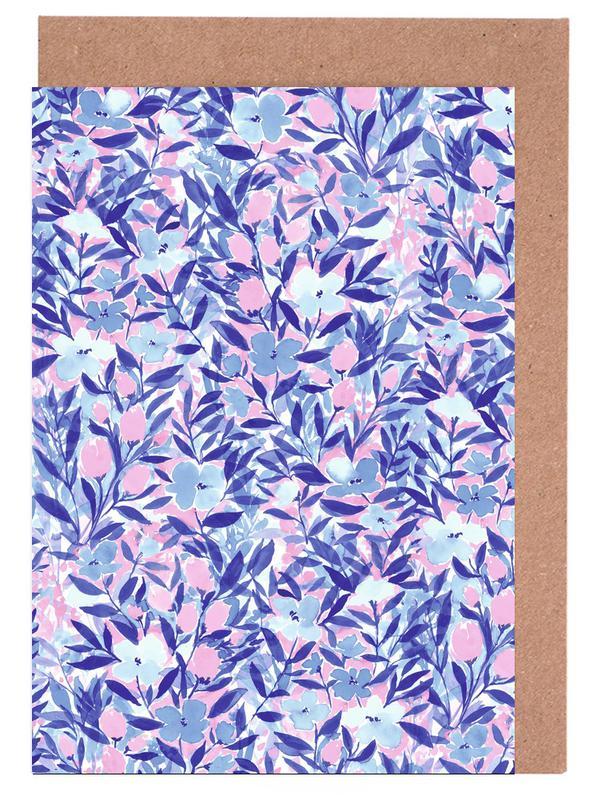 , Nonchalant Pink Greeting Card Set