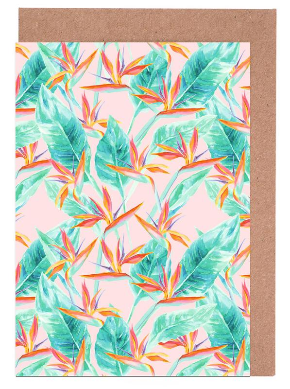 Blätter & Pflanzen, Birds Of Paradise -Grußkarten-Set