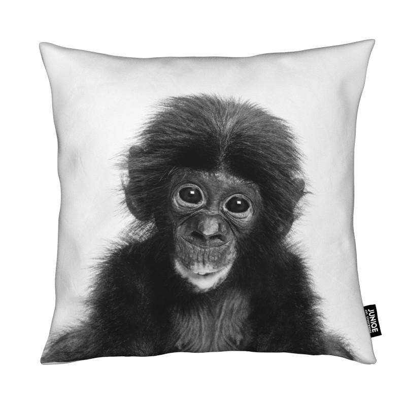 Kinderzimmer & Kunst für Kinder, Schwarz & Weiß, Affen, Bonobo Classic