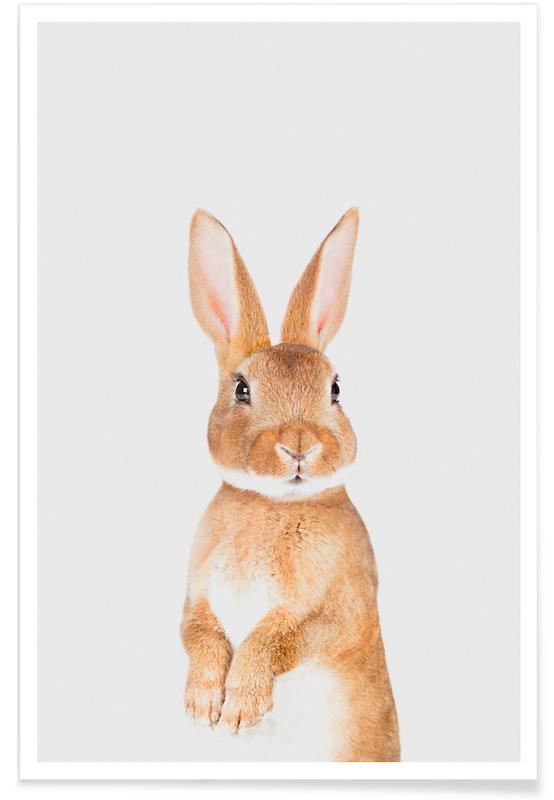 Kaninchen, Ostern, Kinderzimmer & Kunst für Kinder, Bunny II -Poster