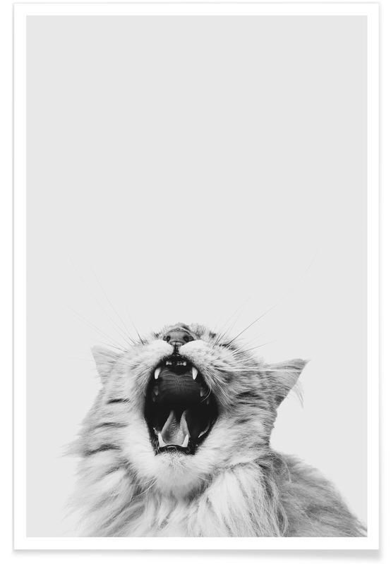 Katzen, Kinderzimmer & Kunst für Kinder, Roar -Poster