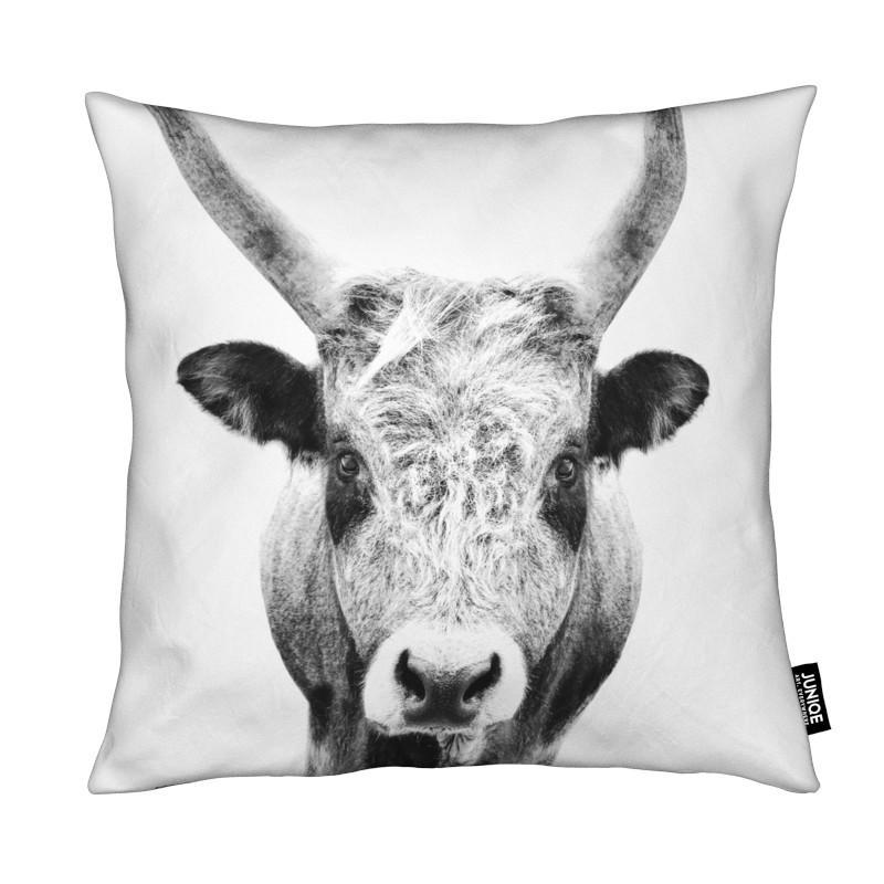 Vaches, Art pour enfants, Noir & blanc, Bull Classic coussin