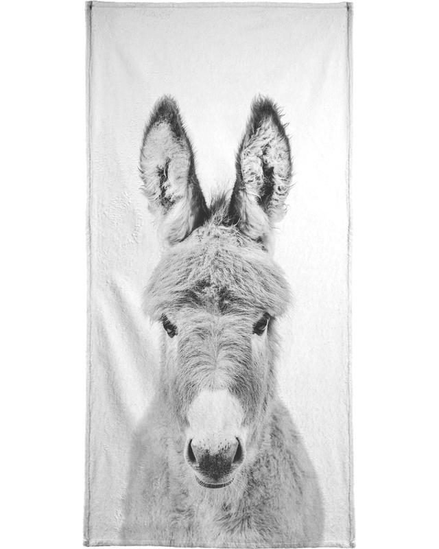Noir & blanc, Art pour enfants, Donkey Classic serviette de plage