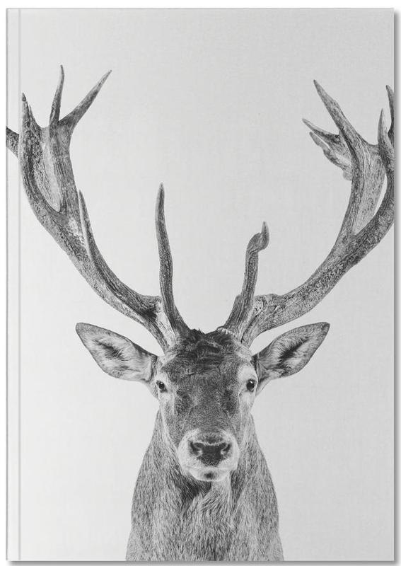Cerfs, Noir & blanc, Noël, Art pour enfants, Reindeer Classic Notebook