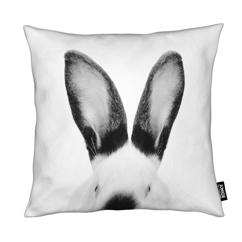 Art pour enfants, Noir & blanc, Lapins, Rabbit Classic coussin