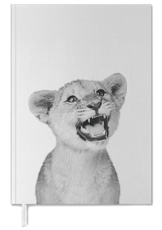 Black & White, Nursery & Art for Kids, Safari Animals, Lion Cub Classic Personal Planner