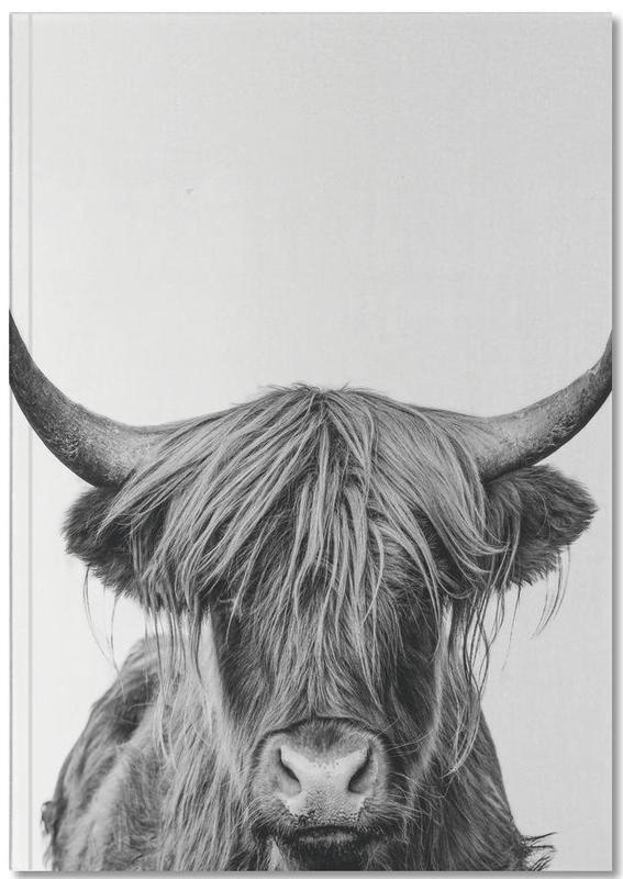 Vaches, Noir & blanc, Vaches Highland, Art pour enfants, Highland Cow Classic Notebook