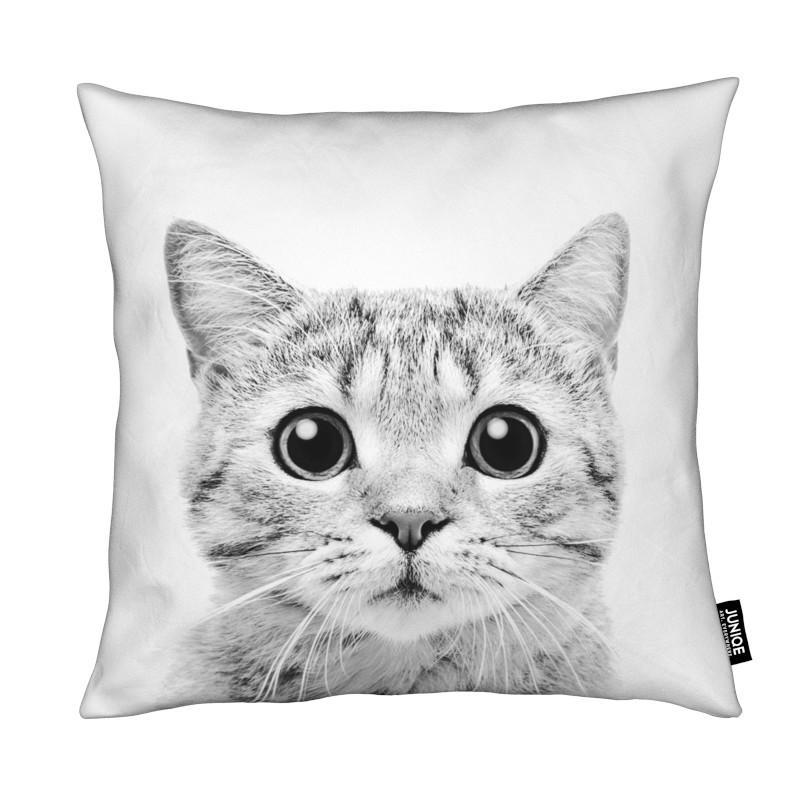 Art pour enfants, Noir & blanc, Chats, Kitten Classic coussin