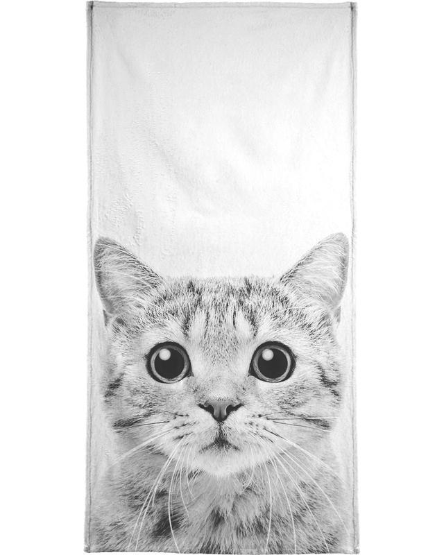 Noir & blanc, Chats, Art pour enfants, Kitten Classic serviette de plage